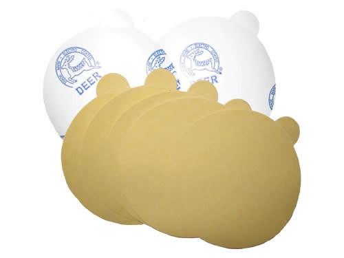 """Gold Hook & Loop Sanding Disc 6"""" (100/pk)"""