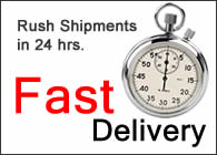 Rush Shipments in 24 hrs.