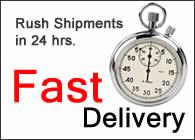 Rush Shipments in 24 hrs.